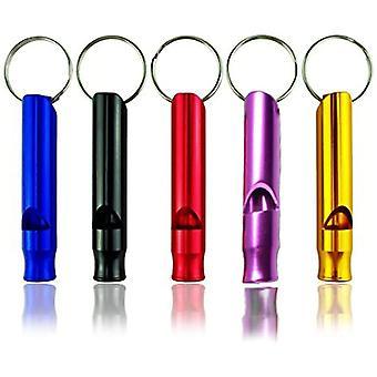 5pcs liten fløyte utendørs for camping klatring livreddende (tilfeldig farge)