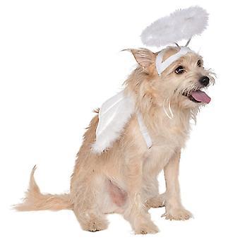 Dog Cat Feather Angel Halo Wing Pet Kostým doplnky Súprava fotografických rekvizít