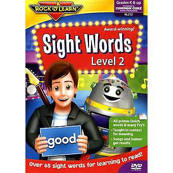 Rock'N Learn - Sight Words Level 2 [DVD] USA import
