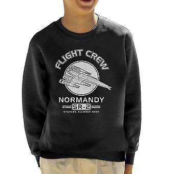 Normandië Flight Crew Mass Effect Kid's Sweatshirt