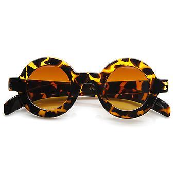Retro mode fed ramme hornede rand runde cirkel solbriller