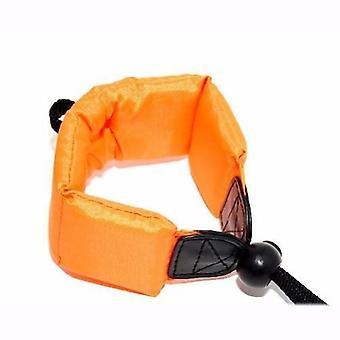 JJC Orange Floating Foam Camera Strap for Pentax Optio WP, WPi, W10, W20, W30, W60, W80, W90, WS80