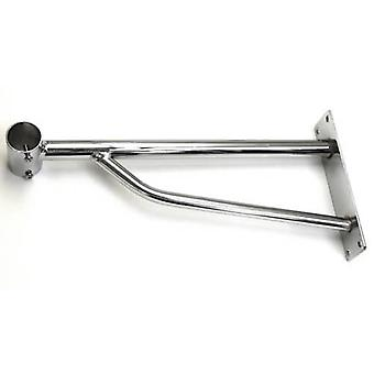 Chrome Wall Mounted Bracket 32cm Depth 25mm Dia for our Wall Mounted Garment Rails