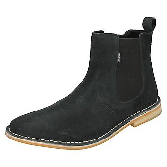 Mens Lambretta Ankle Boots Regent - Navy Suede Leather - UK Size 9 - EU Size 43 - US Size 10
