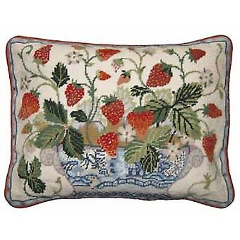 Cream Strawberry Fair Needlepoint Kit
