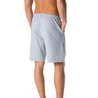 Mey 24650-620 maschile Lounge grigio tinta unita pigiama corto