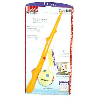 Petstages Plastic Stick Tennis Ball Dog Toy Launcher