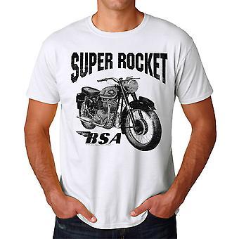 BSA Super Rocket Motorcycle Men's White T-shirt
