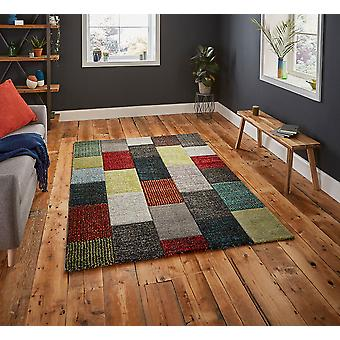 Brooklyn 21830 Rectangle Multi gris tapis tapis modernes