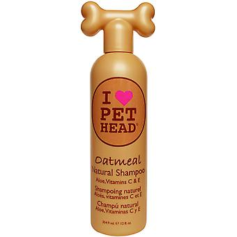 A PET Head zabpehely Natural Dog sampon 354ml természetes kutya sampon Aloe, C-vitamin & amp; E