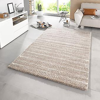 Design cut pile carpet deep pile Nova grey taupe