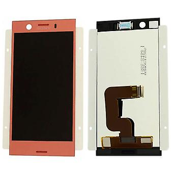 Sony display LCD complete unit for Xperia XZ1 dual G8342 pink spare parts new