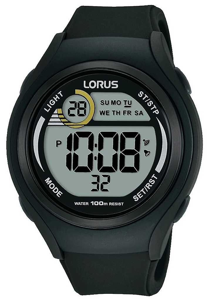 Lorus Unisex Lorus Rubber Digital Sports Black R2373LX9 Watch