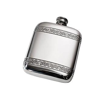 Celtic Bands Pewter Pocket Flask