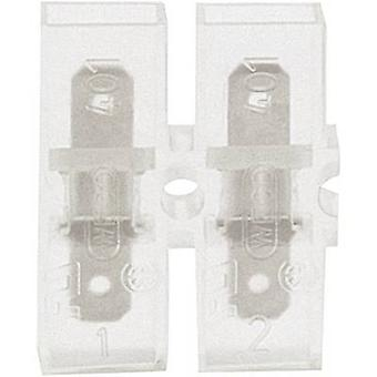 Klauke 8052 Blade terminal Connector width: 4.8 mm Connector thickness: 0.8 mm 180 ° Insulated Transparent 1 pc(s)