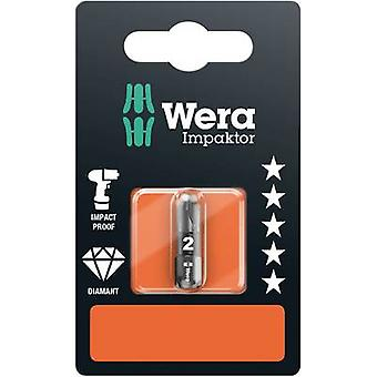 Wera 855/1 IMP DC SB SiS 05073921001 Philips bit PZ 2 Tool acciaio DLC rivestito D 6.3 1 pc