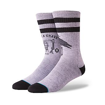 Stance Lifes A Grave Crew Socks in Grey