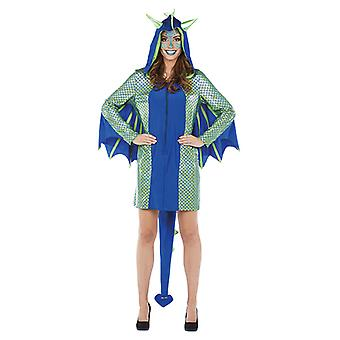 Dragen pige damer kostume Dragon kjole animalske kostume karneval
