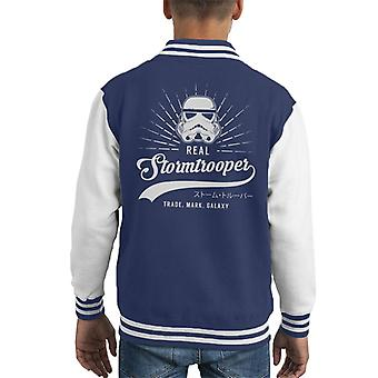 Original Stormtrooper Baseball Text Kid's Varsity Jacket