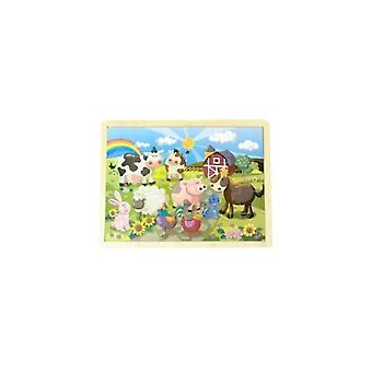 Simply for Kids 36164 Houten Puzzel Boederij