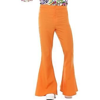 Flared Trousers, Mens, Orange