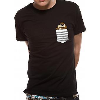 Camiseta de bolsillo de Looney Tunes-Taz