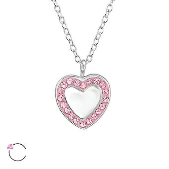 Heart Mirror Crystal From Swarovski® - 925 Sterling Silver Necklaces - W30710x