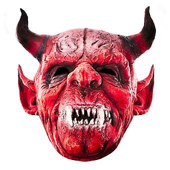 Le masque de robe de fantaisie de carte d'Halloween de diable