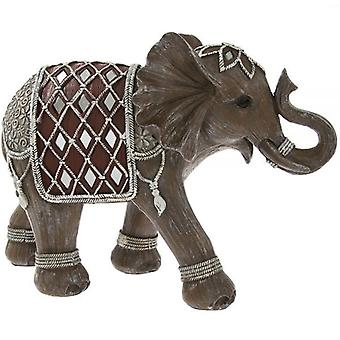 Indian Grey Silver Elephant Decorated Ornament Home Decoration 28Cm