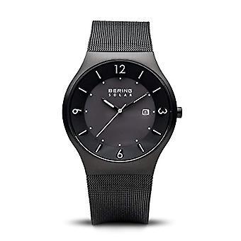 Mäns Watch, analog kvartsur med rostfritt stål band, Bering Solar 14440-222