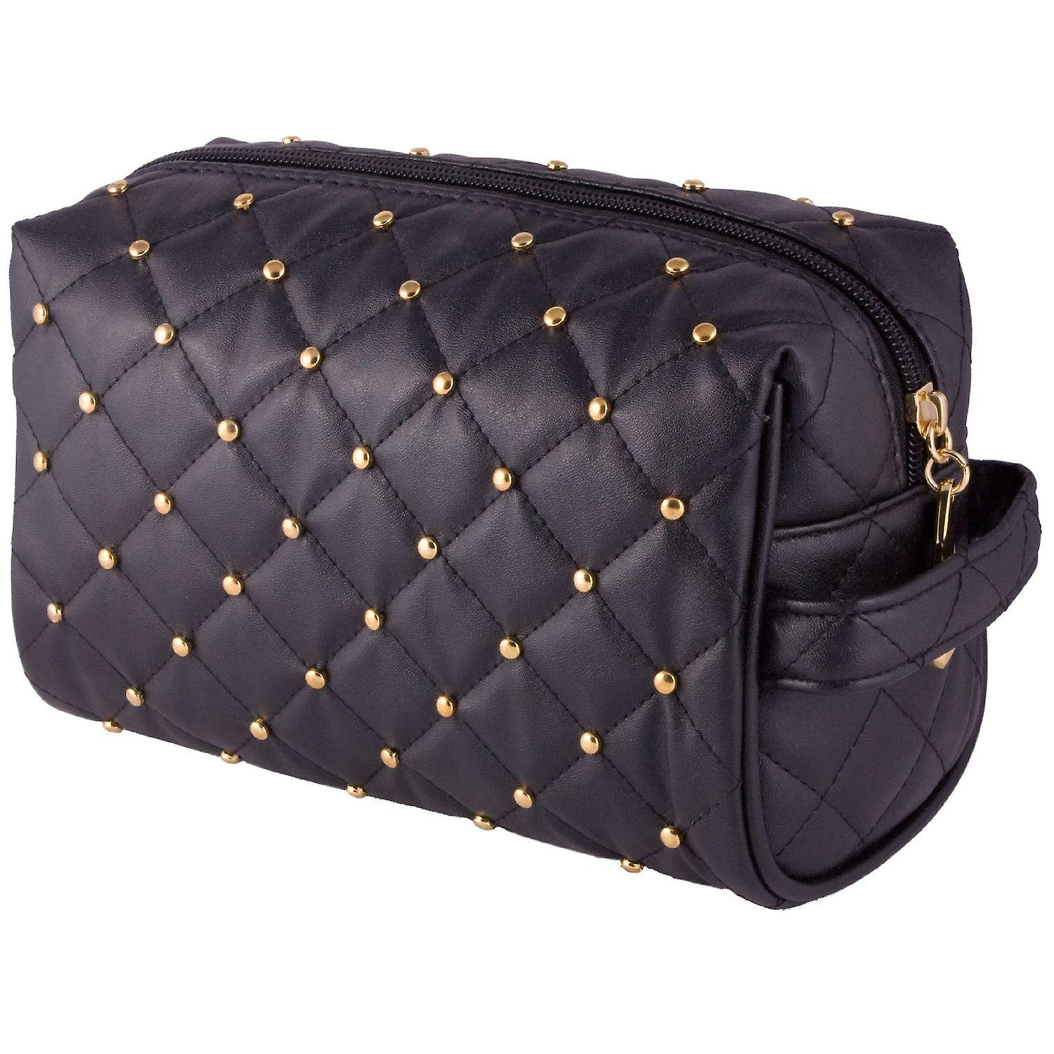 Danielle Black Studded Moda Make Up Case with Side Handle