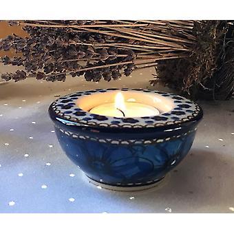 Kerzenständer / Teelichthalter, Ø 8,5 cm, 4 cm hoch, Unikat 4 - BSN J-3642