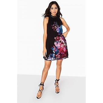 Little Mistress Womens/Ladies Aurora Placement Embellished Shift Dress