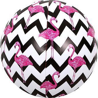 Jumbo sikksakk Flamingo Beach ball