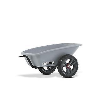 BERG Buzzy Trailer With Tow Bar For All BERG Buzzy Go Karts Grey
