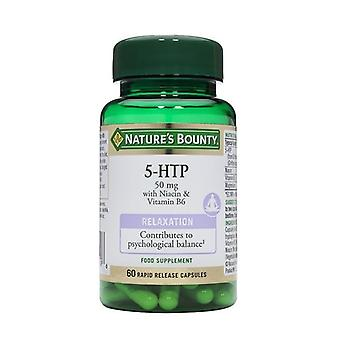 Nature's Bounty 5-HTP 50mg with Niacin & Vitamin B6 60 (N5315)