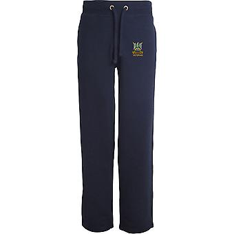 Royal Scots Dragoon Guards veteran-licenseret British Army broderet åbne hem sweatpants/jogging bunde