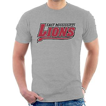 East Mississippi Community College Lions Dark Tail Logo Men's T-Shirt