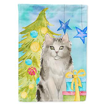 Ragamuffin Christmas Presents Flag Canvas House Size