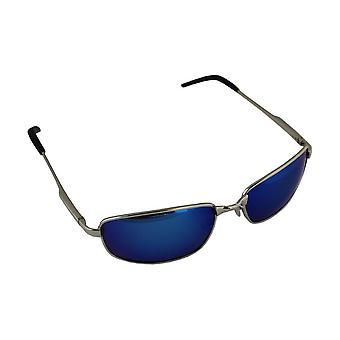 Men's Sunglasses Polaroid Rectangular - Silver/Blue with free brillenkokerS305_2