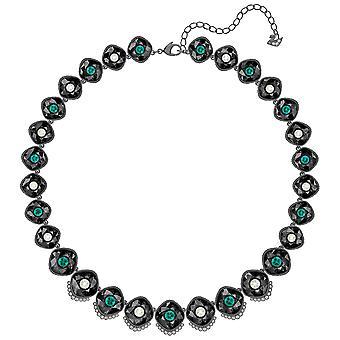 Swarovski svart barokk halskjede-flerfarget-ruthenium belagt-5490986