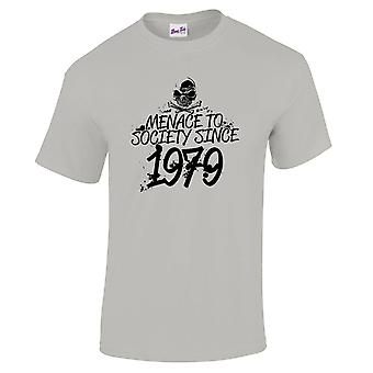 Men's 40th Birthday T-Shirt Meanace Since 1979 Prezenty dla niego