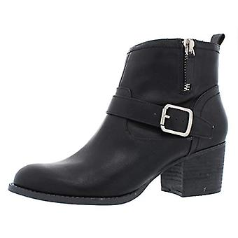 Madden Girl Womens Fibi Leather Almond Toe Ankle Fashion Boots