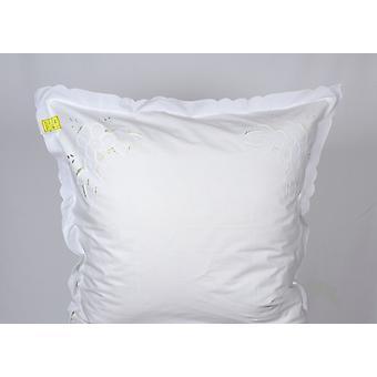 Hossner pillow case Ferrara Richelieu embroidery Shabby Landhaus 80x80 cm