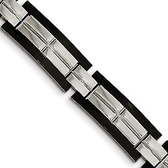 Stainless Steel Polished Black Ip plated 8.5 In. Bracelet 8.5 Inch Jewelry Gifts for Women