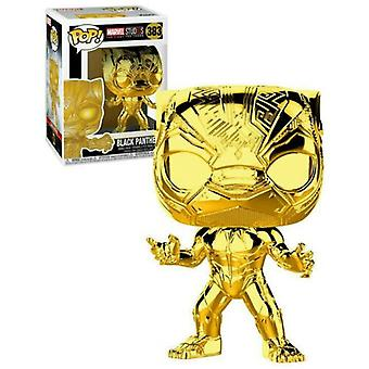 Marvel Studios 10th Ann Black Panther Gold Chrome Pop