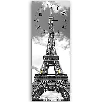 Decorative clock with hanger, Eiffel tower