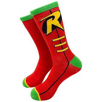 Chaussettes d'équipage de costume de symbole de Robin