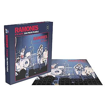 Ramones Jigsaw Its Alive Album Cover new Official 500 Piece