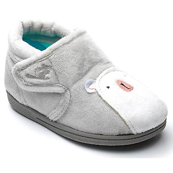 Chipmunks Boys Arctic Slippers Light Grey